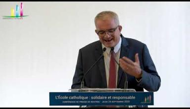 Conférence de presse de Philippe Delorme le 24 septembre 2020